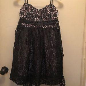 Beautiful NWT Ruby Rox dress. Black lace